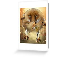 Dream Catcher - Spirit Of The Red Fox Greeting Card