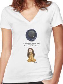 Lovely roar (deemo) Women's Fitted V-Neck T-Shirt