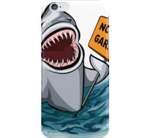The shark voting against ocean pollution and garbage.   iPhone Case/Skin