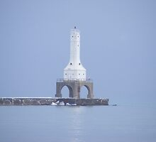 Lighthouse Winter - Port Washington by portshoresltd