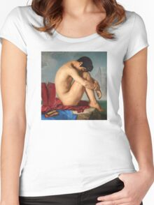 Superman moment of weakness Women's Fitted Scoop T-Shirt