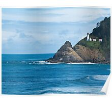 lighthouse, north of Coos Bay Oregon Poster