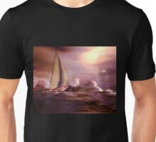 Racing the storm to safety Unisex T-Shirt