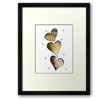 Opal Hearts iPhone / Samsung Galaxy Case Framed Print