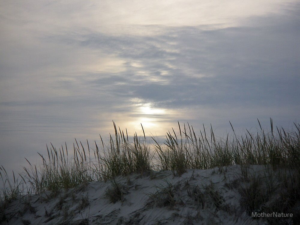 Sunset Behind the Dunes by MotherNature