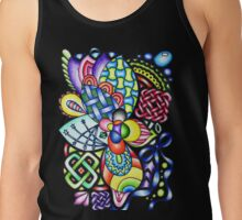 Rainbow Patterns Celtic and Geometric Drawing  Tank Top