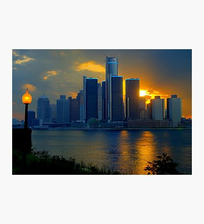 Evening in Detroit Photographic Print