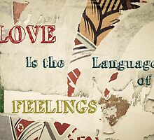 Inspirational message - Love is the language of feelings by Stanciuc