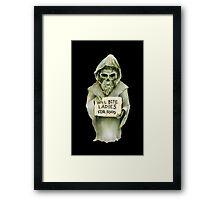 Undead Templar (Homeless) Framed Print