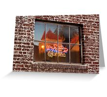 Corona Neon Window Sign Greeting Card