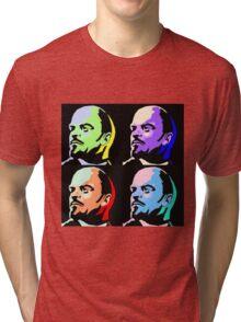 V I Lenin Pop Art Tri-blend T-Shirt