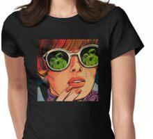 pop art cheating Womens Fitted T-Shirt