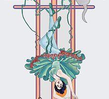 Tarot Hanged Woman by redqueenself