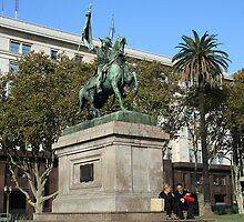 Coffee in the Plaza de Mayo by Maggie Hegarty