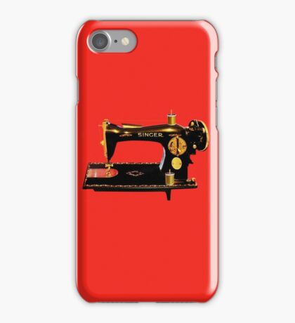 VINTAGE SEWING MACHINE-PILLOWS-TOTE BAG-JOURNAL-SCARF-ECT. iPhone Case/Skin