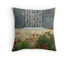 Window, Assamese tea plantation. Throw Pillow