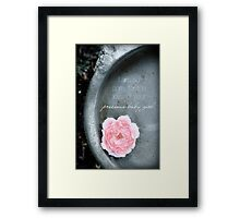 Loss of a Precious Baby Girl Framed Print