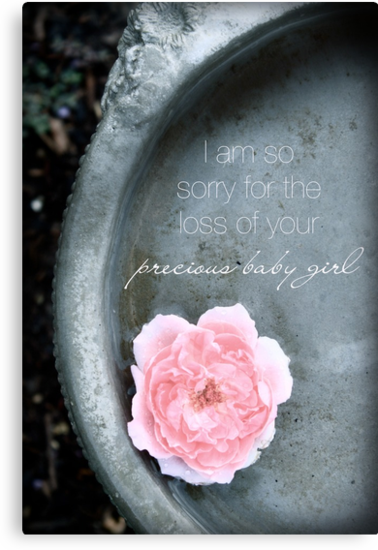 Loss of a Precious Baby Girl by Franchesca Cox