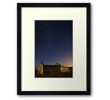 Startrails by the Moonlight Framed Print