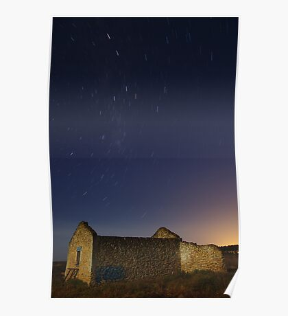 Startrails by the Moonlight Poster