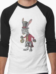 Alice Madness Returns White Rabbit Men's Baseball ¾ T-Shirt