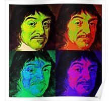 Rene Descartes - Pop Art Poster