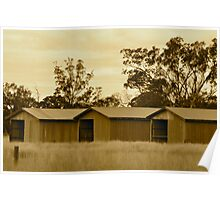 Three old sheds Poster