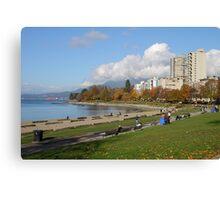 English Beach, Vancouver City, Canada  Canvas Print