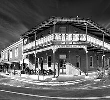 Wide Verandahs (B&W Panorama)  - The Rockley Hotel c1872, Rockley NSW The HDR Experience by Philip Johnson