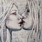 Girls Kissing by Gay Henderson