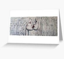 Girls Kissing Greeting Card