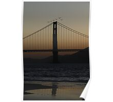 Flying through the Golden Gate Poster