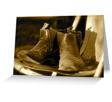 Boots, dust and cobwebs Greeting Card