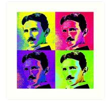 Nikola Tesla Pop Art Art Print