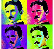 Nikola Tesla Pop Art by Chunga