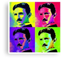 Nikola Tesla Pop Art Canvas Print