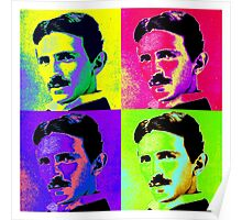 Nikola Tesla Pop Art Poster
