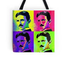 Nikola Tesla Pop Art Tote Bag