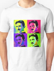 Nikola Tesla Pop Art Unisex T-Shirt