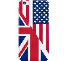 American and Union Jack Flag iPhone Case/Skin