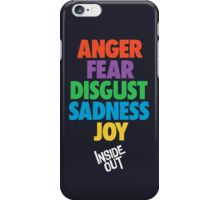 Inside Out emotions with the logo iPhone Case/Skin
