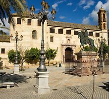 Spanish town square 2 by Ian Fegent