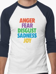 Inside Out emotions with the logo Men's Baseball ¾ T-Shirt