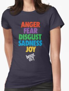 Inside Out emotions with the logo Womens Fitted T-Shirt