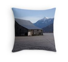 The Old Bailey Barn Throw Pillow