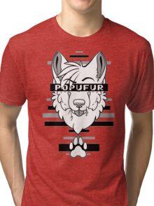POPUFUR -grey- Tri-blend T-Shirt