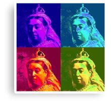 Queen Victoria Pop Art Canvas Print