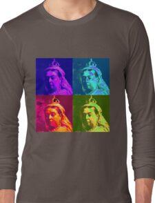 Queen Victoria Pop Art Long Sleeve T-Shirt