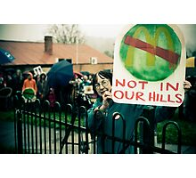 Reportage- 'No McDonalds in Tecoma!' Photographic Print