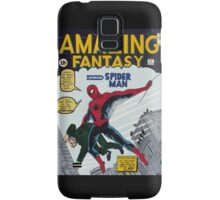 Spiderman comic book cover- acrylic painting Samsung Galaxy Case/Skin